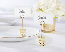 Gold Love Photo Place Card Holder Wedding Bridal Shower Anniversary Favor