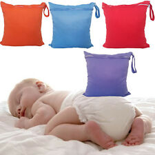 Mother Baby Nappy Reusable Washable Wet Dry Cloth Zipper Waterproof Diaper Bag