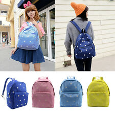 Fashion Women Canvas Travel Satchel Campus Shoulder Bag Backpack School Rucksack