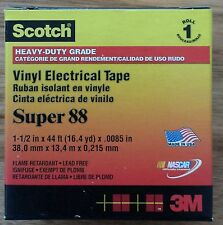 3M Scotch Super 88 Premium Vinyl Electrical Insulation Tape 38mm wide x 13.4m
