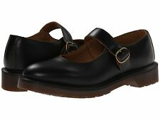 Womens DR MARTENS INDICA Leather Mary Jane Shoes Smooth Black doc SIZE 9