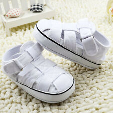 Infant Baby boy Girl white crib shoes sandals shoes sneakers size 0-18 months