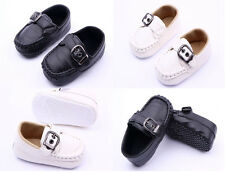 Infant Baby Boy Faux Leather Casual shoes Crib Shoes Soft Soles Size 0-18 Months