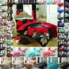Duvet Cover Set With Pillow Case King Size Double Super Single Revesible Printed