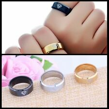 8MM Titanium Band Wedding Stainless Steel Solid Ring Men Women Size 7-12 Silver