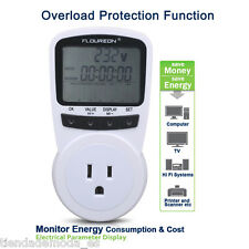 Programmable Power Meter Switch Monitor Power Energy Volts Amps Electricity Plug