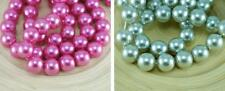 Pearl Czech Glass Round Beads Glass Imitation Pearls 14mm 4pcs