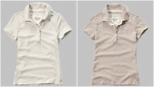 NWT ABERCROMBIE & FITCH WOMEN'S ICON POLO SHIRTS SIZE XS,S,M,L FREE SHIPPING!