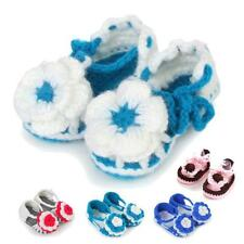 Newborn Toddler Baby Flower Knitting Crochet Non_slip Buckle Sandal Soft Shoes