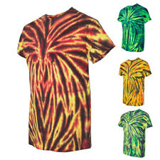 Tie-Dyed Mens Short Sleeve Tees Tops Spider T-Shirt 200SP
