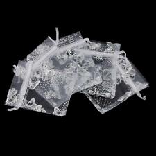 100pcs Organza Bags Wedding Favor Gift Candy Bag Jewelry Pouch 3 Sizes&Colors