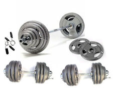 100KG Olympic Barbell/Dumbbell Tri-Grip Plate Set Iron 2