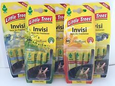 5 X ORIGINAL LITTLE TREES VENT CLIP INVISI CAR YOU CHOOSE SCENT AIR FRESHENER