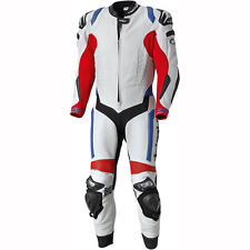 Motorcycle Held Leather 1-Piece Race-Evo 5212 - White Red Blue UK