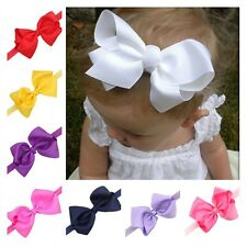 Hair Band Accessories Infant Toddler Baby Girl Headband Big Bow Stretch Headwear