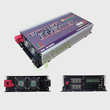 4KW off grid pure sine wave power inverter DC24V 48V to AC 230V with charger LCD
