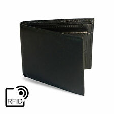 RFID Blocking Wallet Real Leather Mens Bifold Slim Card Holder ID Protection