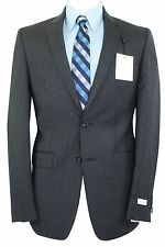 Calvin Klein Mens Wool Extreme Slim Fit  2-Piece Suit Pinstripes 0301 Charcoal
