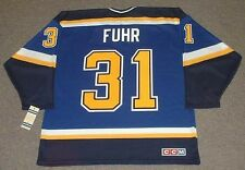 GRANT FUHR St. Louis Blues 1998 CCM Throwback Home NHL Hockey Jersey
