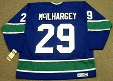 JACK McILHARGEY Vancouver Canucks 1976 CCM Vintage Throwback NHL Hockey Jersey