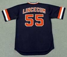 TIM LINCECUM San Francisco Giants 1980's Majestic Cooperstown Baseball Jersey