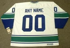 "VANCOUVER CANUCKS 1970's CCM Vintage Home ""Customized"" NHL Hockey Jersey"