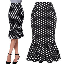 Womens Vintage 1940'S Wiggle Pencil Skirt Cocktail Party Casual Bodycon Office