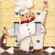 Fat Chef #2 Light Switch Cover~ Kitchen Decor~ Choose Your Plate Style