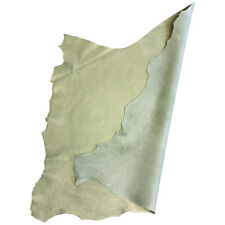 Moss Green Lambskin Authentic Genuine Leather Tanned Hide Pearlescent Skin FS928