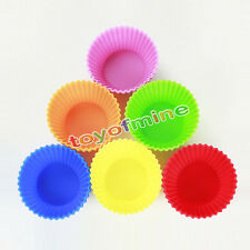 2PCS Soft Silicone Cake Muffin Chocolate Cupcake Bakeware Baking Cup Mold