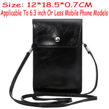 PU Leather Handbag Case Shoulder Cross-body Bag Pouch Cover For wiko Phone