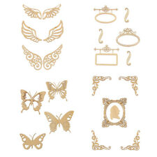 Wings Butterfly Design Unfinished Wood Shape Craft Supplies DIY Decor Scrapbook