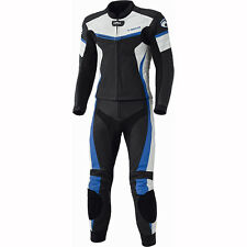 Motorcycle Held 5614 Spire 2 Piece Leather Suit - Black Blue UK