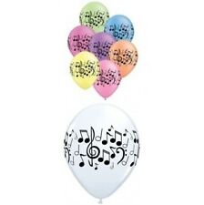 "5 x Qualatex Music Notes 11"" Latex Balloons - Choose White or Neon Assortment"
