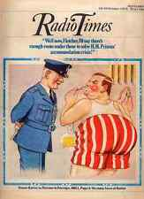 RADIO TIMES 18 OCT 1975 . RONNIE BARKER - PORRIDGE FRONT COVER . DOCTOR WHO