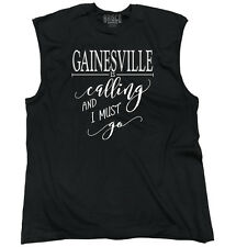 Gainesville, FL is Calling I Must Go Home Womens Shirt City Sleeveless Tee