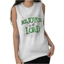 ReJOYce In The Lord Christ Christian T Shirts Jesus Christ Sleeveless Tee