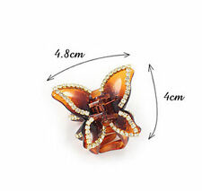 Crystal Butterfly Rhinestone Claw Hairpin Women Hair Clamp Accessory Clip 1pcs