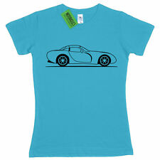 Ladies Original Sketch TVR Tuscan British Sports Car Speed 6 fitted T Shirt