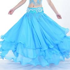 Fashion  Elegant Belly Dance Costume 3 layers with chiffon Skirt Dress13 colors