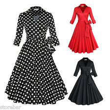 50'S 60'S DRESS Vintage Style Swing Pinup Retro Housewife Evening Party S-6XL