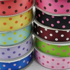 1 1/2' grosgrain ribbon printing dot wedding party DIY craft