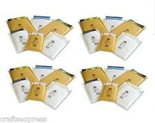 JL00 - Jiffy Aircraft Bags - 115mm x 195mm Padded Envelopes Gold & White