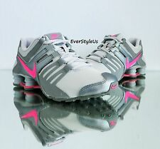 NIKE Shox Current GS Running Shoes Girls sz 4Y - 7Y Wolf Grey/Hyper Pink