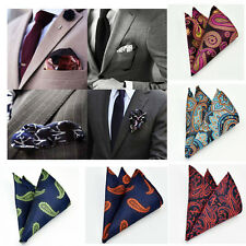 Paisley Floral Party Pocket Square Hankie Man Handkerchief Free Shipping