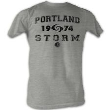 World Football League T-Shirt Portland Storm Adult Grey Tee Shirt