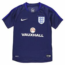Nike England Training Jersey Juniors Boys Navy/Royal Football Soccer Shirt Top