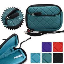 Quilted Water Resistant Digital Camera Protective Pouch Zipper Case FGL2ZZ3-13