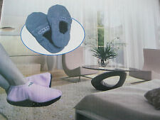 New Unisex Microwave Cozy Feet Snuggle Toes Hot Slippers  Help Soothe Arthritis