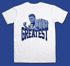 Muhammad Ali t-shirt, White tee, Cassius Clay, Boxing, Mohammed Ali